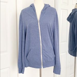 Urban Outfitters Large Blue Zip Up Hoodie